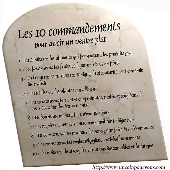 Un coin pour vous l 39 esth tique et la sant - Les tables des 10 commandements ...